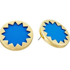 "House of Harlow Blue Sunburst 7/8"" Stud Earrings"